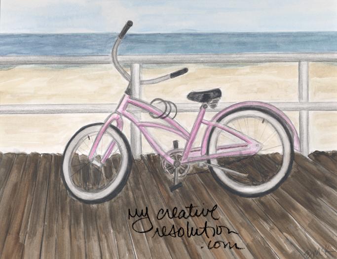 A Bike On The Boardwalk