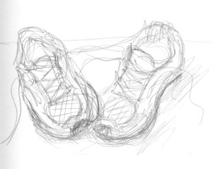 sneaker sketch