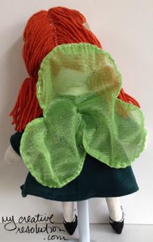 back irish fairy doll