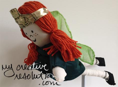 flying irish fairy doll