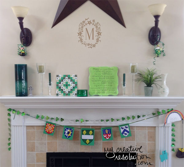 St. Patrick's Day mantle