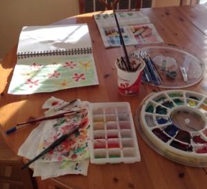 my watercolor setup