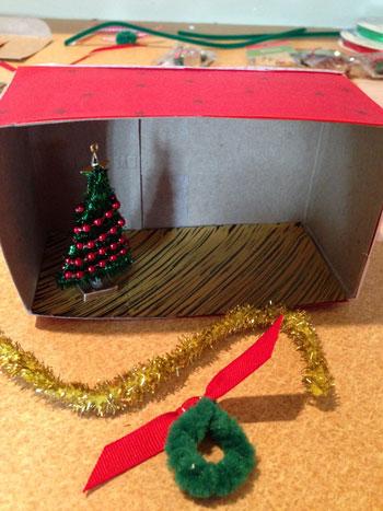 Christmas Shoebox Diorama.Christmas Diorama In Progress Eileen Mckenna Art Design