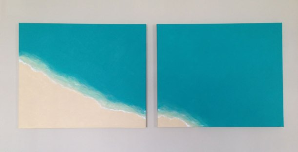Aerial Beach Canvas DIY acrylic painting project