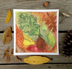 watercolorinkleaves
