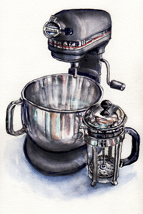 day-16-my-favorite-place-in-my-home-kitchen-aid-mixer-and-french-press