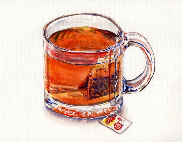 day-29-worldwatercolormonth-lipton-tea-in-glass-mug