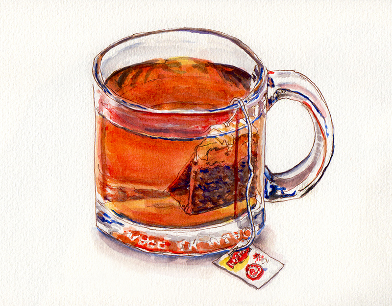 day-29-worldwatercolormonth-lipton-tea-in-glass-mug