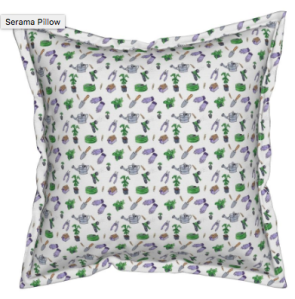 Love Gardening fabric print pillow