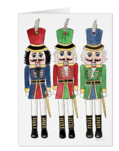 Nutcracker Holiday Card by Eileen McKenna
