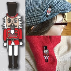 Nutcracker enamel pin
