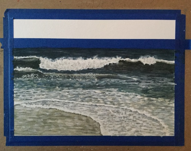 Painting waves. Sticking with it.