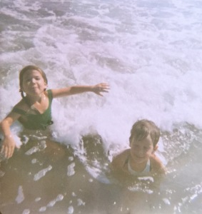 That's me on the left, age 3 or 4