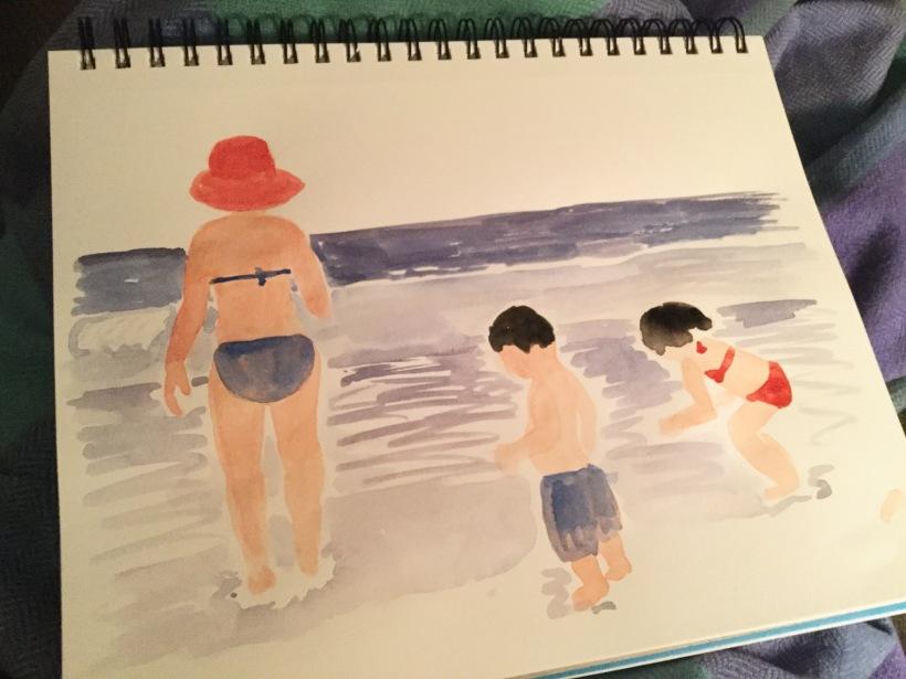 Painting figures in my sketchbook