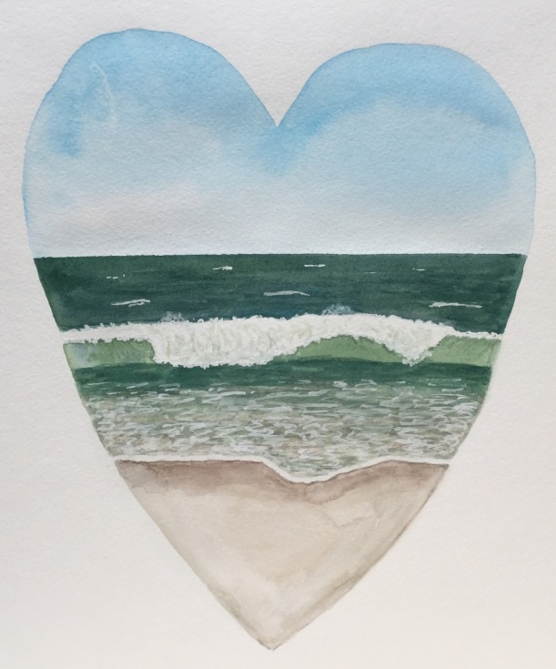 Beach Heart painting