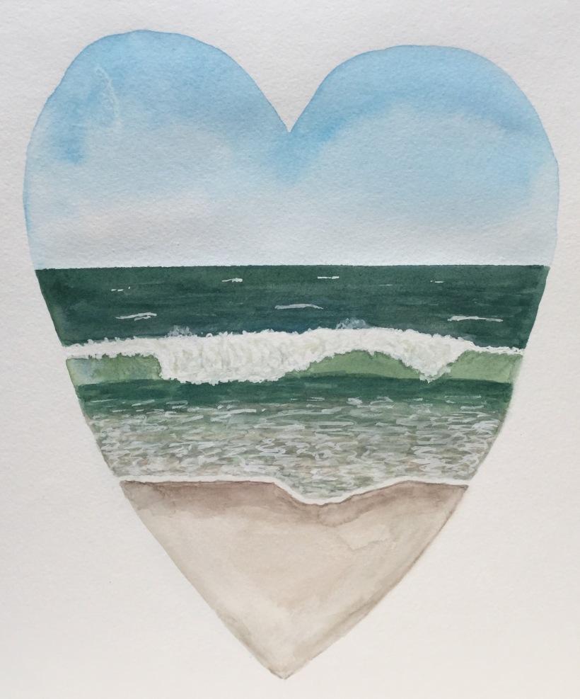 Beach Heart painting