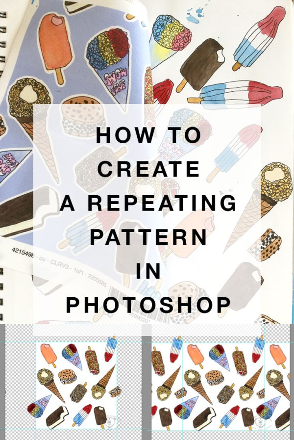 How to create a repeating pattern in Photoshop. For fabric prints, gift wrap, wallpaper and more.