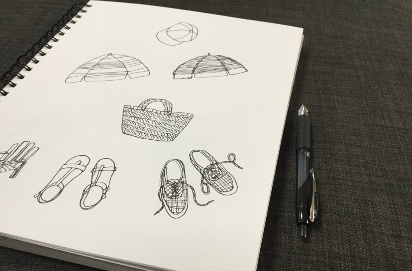 Daily creative habits, sketchbook work, Day 1