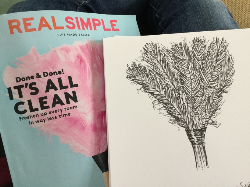 Drawing from magazines - Real Simple
