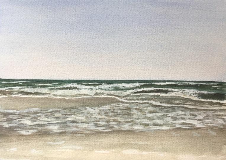 Beach watercolor by Eileen McKenna http://www.mycreativeresolution.com