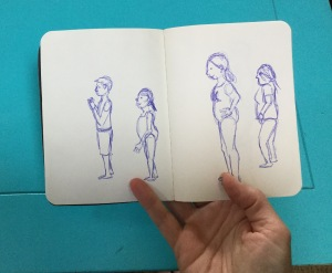 Sketching at the pool