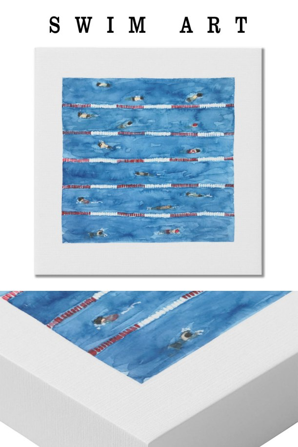 swim art | painting swimmers | pool art print | swimming art print
