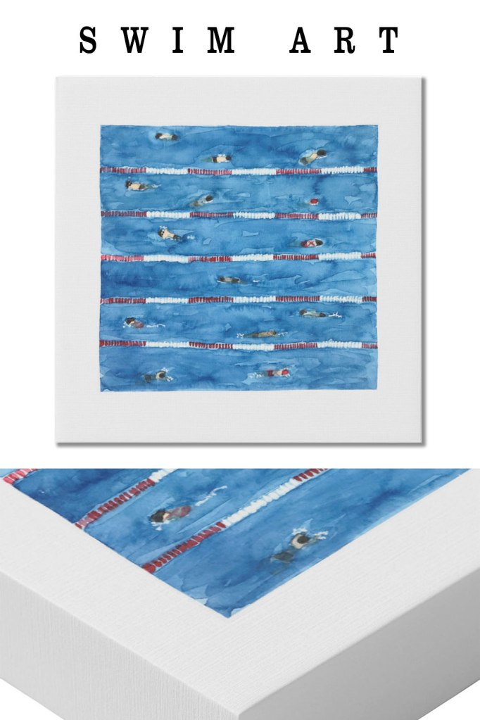 swim art | painting swimmers | pool art print | swimming art print
