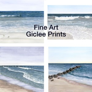 Fine Art Giclee Prints Watercolor Wave Ocean Seascapes by Eileen McKenna