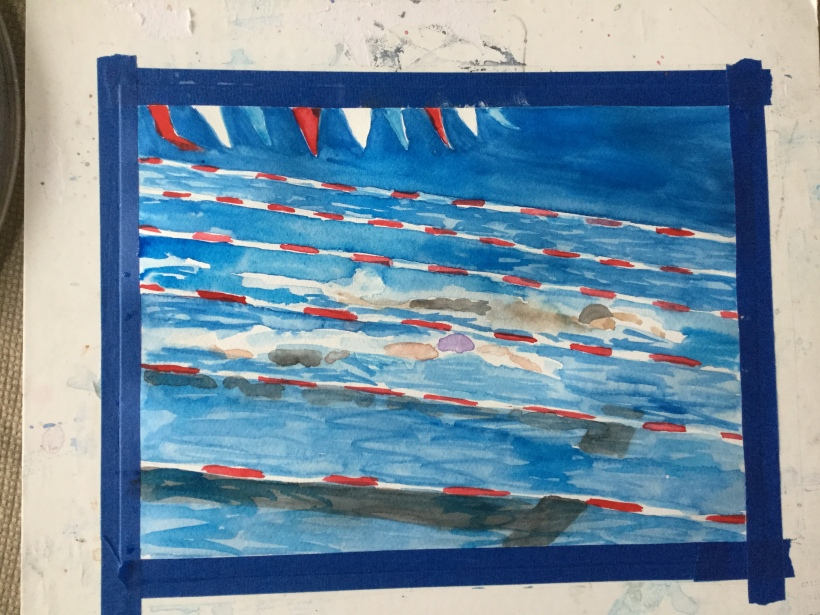 Step 2 painting swimmers