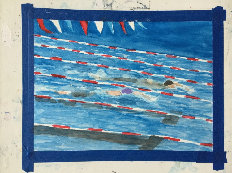 Step 3 painting swimmers