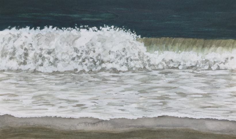 Painting a crashing wave in watercolor