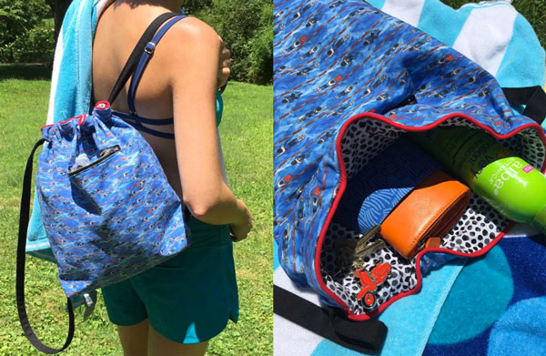 Free Pattern: Sew a Super Deluxe Drawstring Backpack