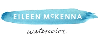 Eileen McKenna Watercolor mycreativeresolution.com | beach ocean watercolor landscapes