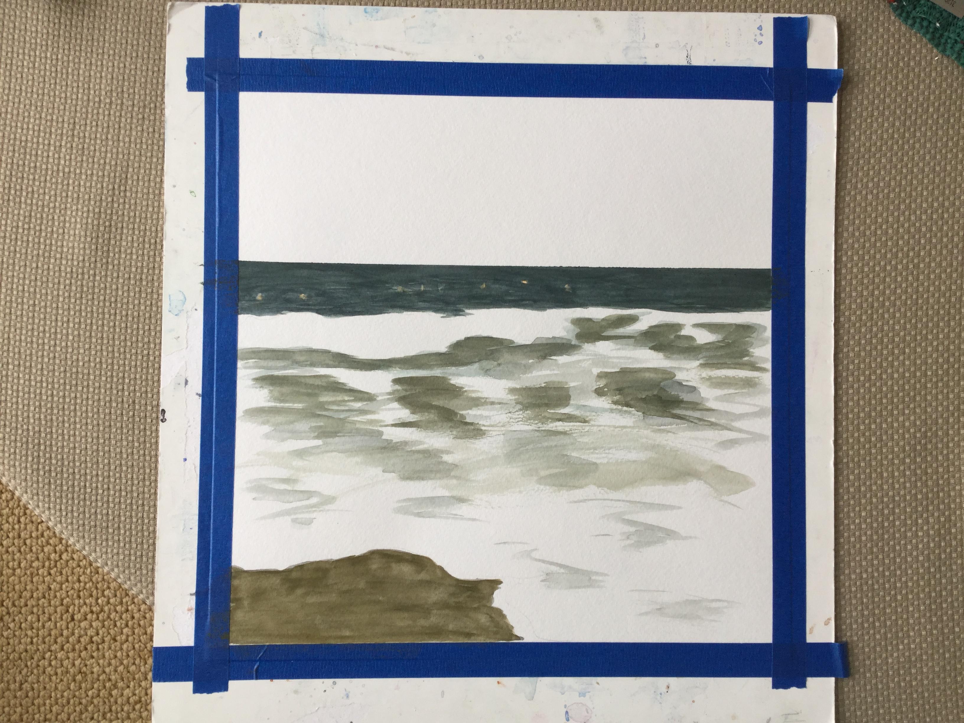 Painting the ocean in watercolor