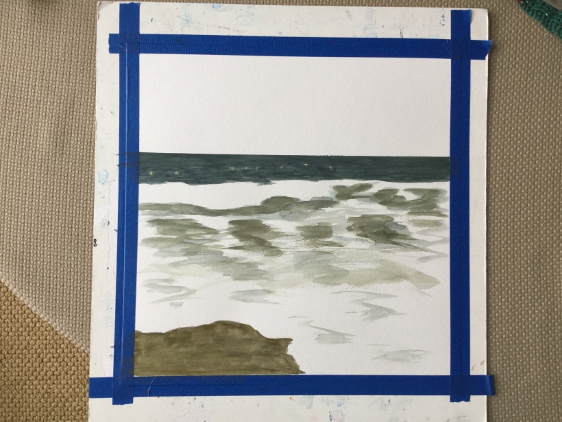 Painting the ocean in watercolor