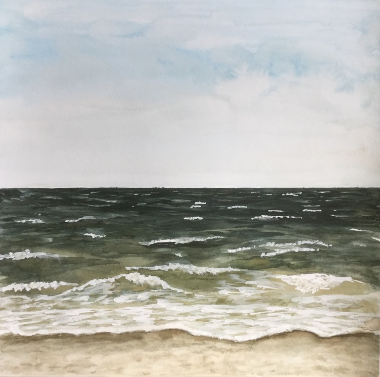 It starts with mixing colors | Painting the ocean