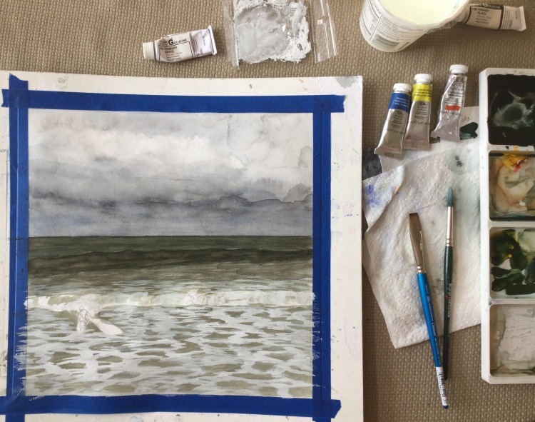 Painting waves in watercolor | creative habits