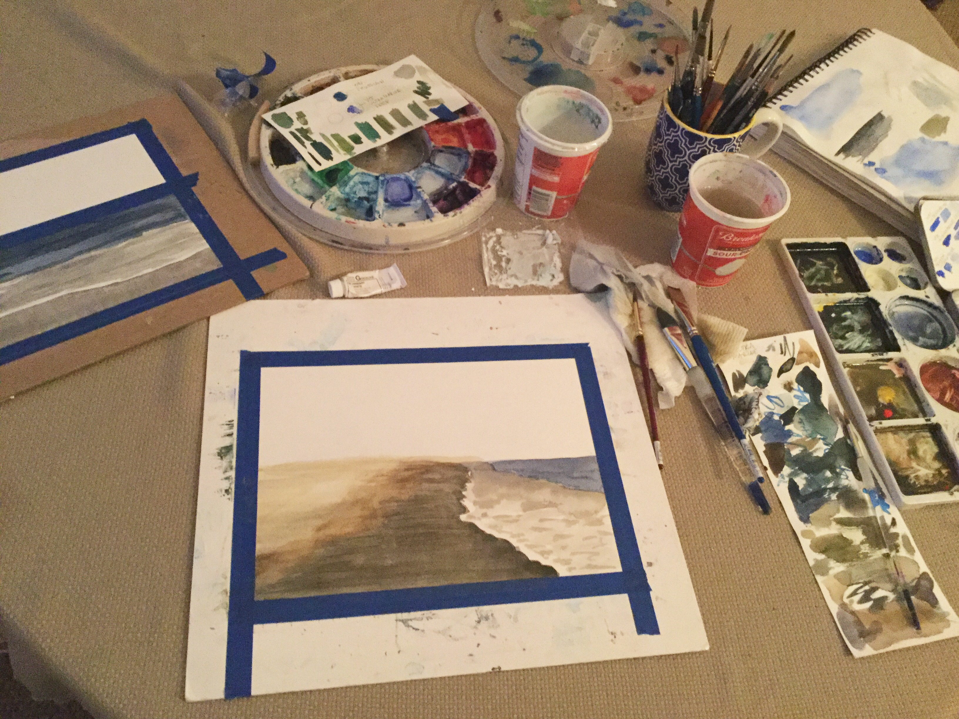 Committed to painting   Artist's setup