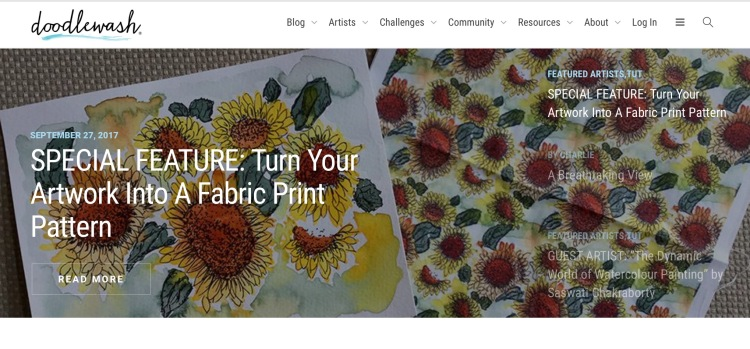 Turn Your Artwork Into A Fabric Print Pattern By Eileen McKenna | doodlewash.com