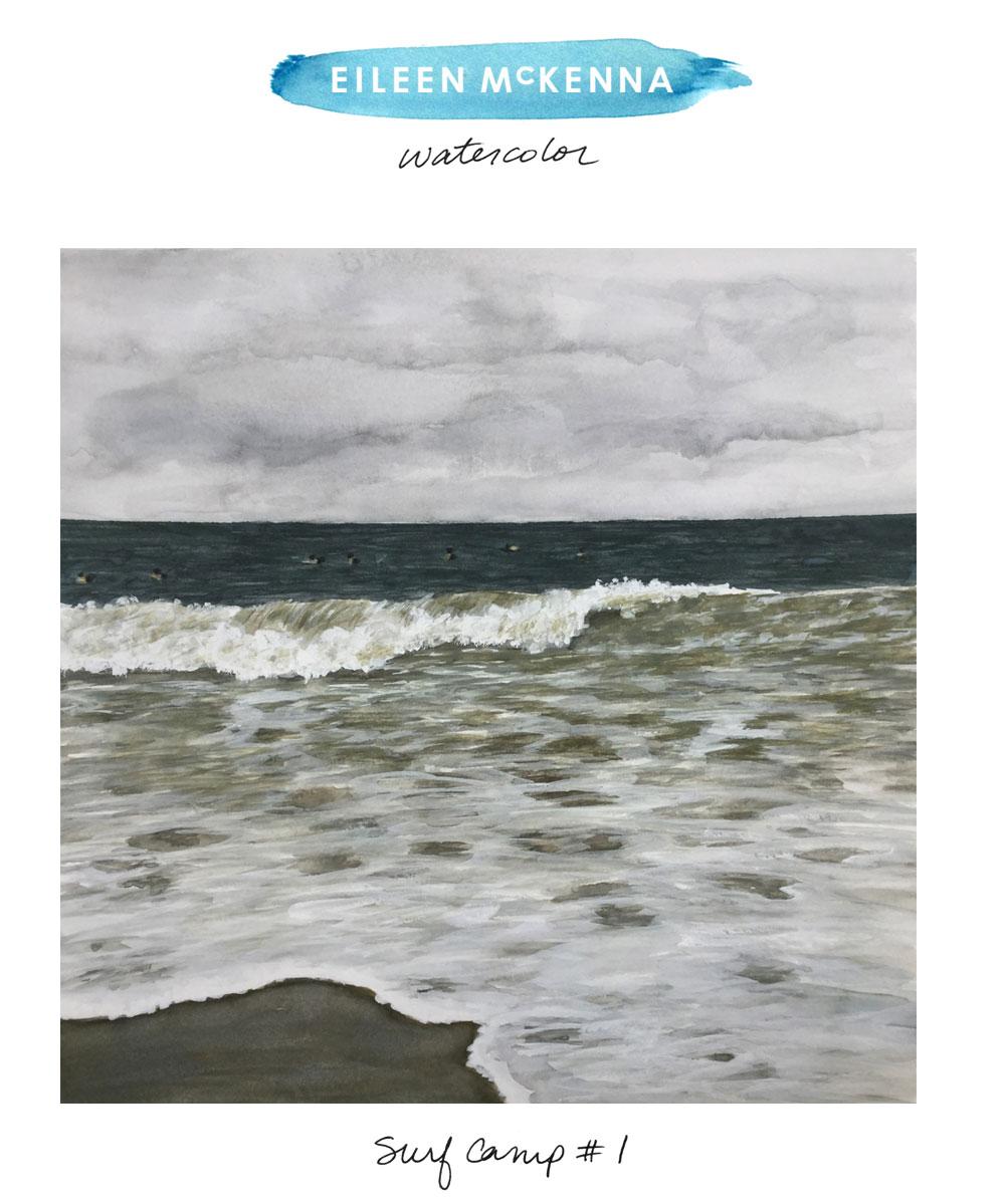 Surf Camp #1 by Eileen McKenna https://shop.eileenmckenna.com/