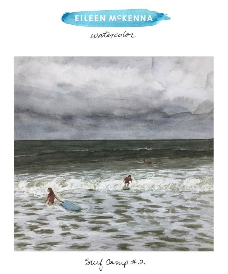Surf Camp #2 by Eileen McKenna https://shop.eileenmckenna.com/