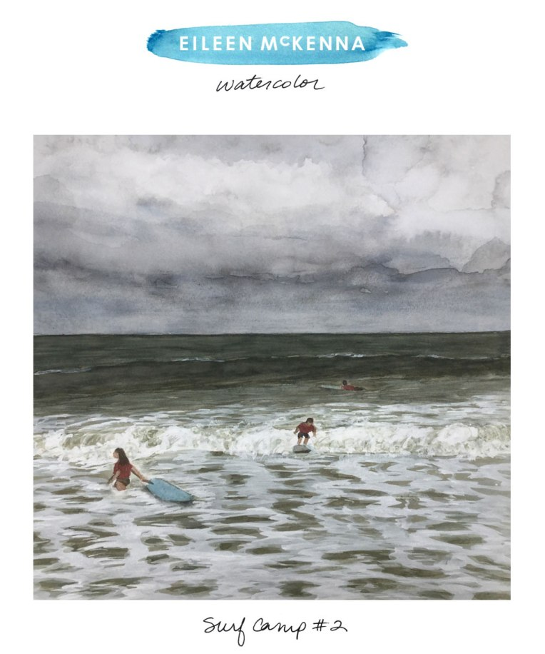 Surf Camp #2 by Eileen McKenna https://shop.eileenmckenna.com/