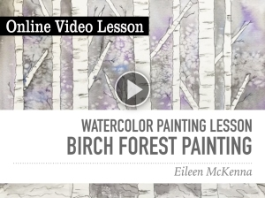 easy watercolor online lesson for beginners fun project