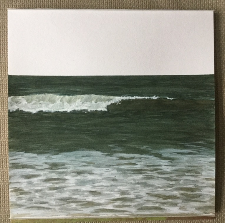 Stages of a watercolor painting. Painting waves by Eileen McKenna
