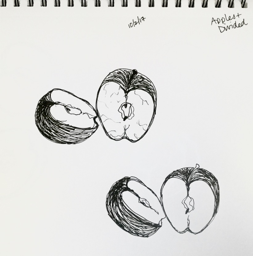 InkTober day 2 apples