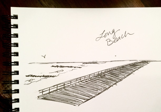 Long Beach, NY boardwalk #inktober