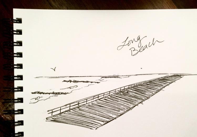 Long Beach, NY boardwalk #inktober