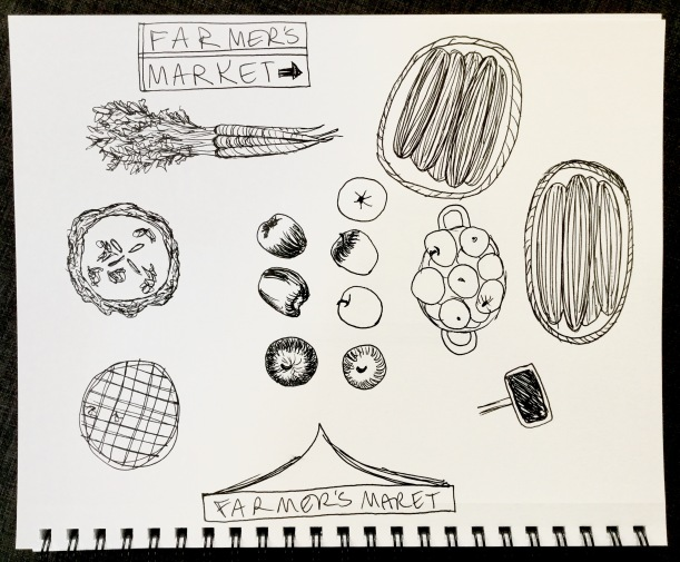 Farmers Market sketches