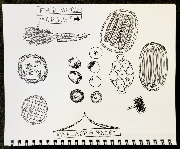Farmers Market sketches