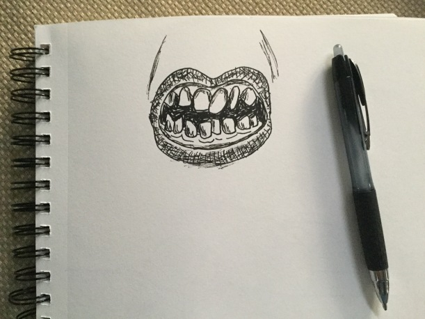 Crooked teeth #inktober